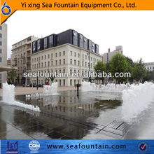 square fountain computer controlled dancing dry floor fountains