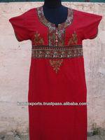 Red Embroidered Abayas Kaftans Islamic womens Wearing Long Kaftans & Abayas burkas