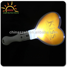 Light up heart shape yellow flashing wand