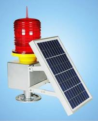 Intelligent aviation obstruction beacon,solar-powered flashing beacon