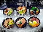Fancy Fake meat,rice,vegetable in bowl sample