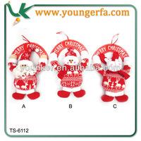2014 New design Fabric Wooden Christmas Snowman Door Hanger