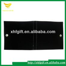 Black velvet fold over jewelry pouch