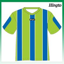 Sport numbers heat transfer printing yellow blue soccer uniform