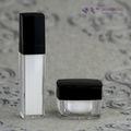 50ml de plástico botella de spray, acrílico botella de bomba doble, cosméticos