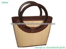Large handmade bamboo bag