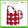 2014 Stylish Big Dots Red And White Canvas Ladies Sling Bag