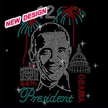 Barack Obama Portrait Rhinestud Hot Fix Transfer FY 28 (28)