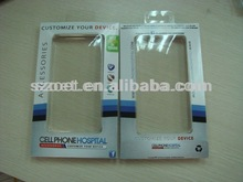 Custom clear plastic/paper cell phone case packaging, mobile phone case packaging, cell phone case packaging box
