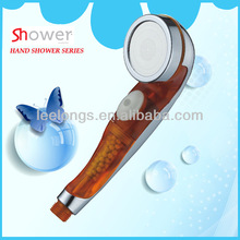 Leelongs PC Plastic Negative Ion Shower Head With S.S Spray Face