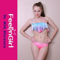 Wholesale Fashion Colorful Fringe Sexy Bikini Micro Mini