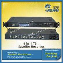 4 Tuner to TS Satellite Receiver