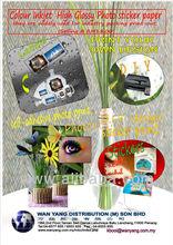 Colour Inkjet High Glossy Photo sticker paper(hot-melt)20shts/pk