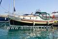 Fibra de vidro casco e de madeira barco para a venda