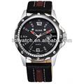 2014 venda quente estilo moda quartzo relógio militar relógio pulseira de couro