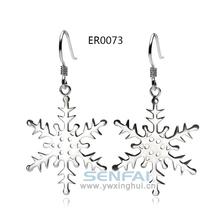 Snowflake liga de zinco brinco modelos