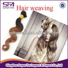 5a body wave double weft virgin brazilian hair, colored brazilian two tone hair extension