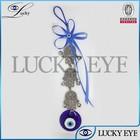 hand shaped key chains blue glaze evil eye dec charm