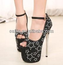 19CM high heel fashion 2014 high platform shoes ladies club shoes PMS2808