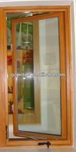 Aluminium crank casement window with fixed panels