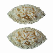 wholesale home decor resin/ceramic white lily sculpture