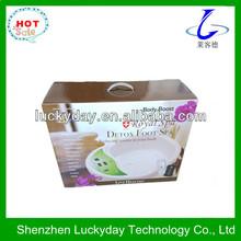 Green color LCD screen cheap detox foot spa machines