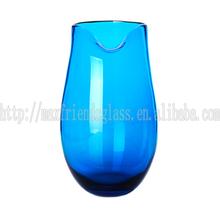 Art Glass Vase, Cobalt Blue, Hand Blown For Home Deco