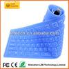 ultra thin portalbe folding silicone keyboard