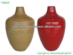 Decorative bamboo vase - set of 2