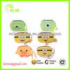 super cute cartoon minions wrist bag for change
