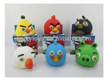 Soft plastic bird squeeze toys baby bath toys