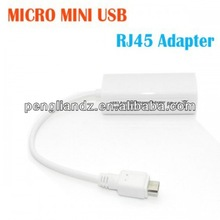 Universal Micro USB to RJ45 LAN Ethernet Network Adapter External Connector Cable