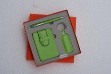 leather card holder gift set for promotion
