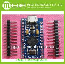 Free Shipping New 2pcs/lot Pro Micro ATmega32U4 5V/16MHz Module with 2 row pin header For arduino Leonardo best quality