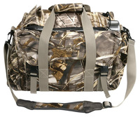 Camo canvas waterfowl floating blind hunting bag