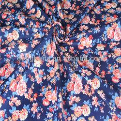 European fashion flower printing spandex fabric