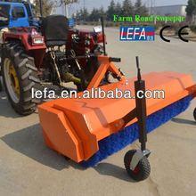 Farm tractors parking lot sweeping