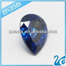 factory price wuzhou sapphire blue pear fashion jewlery