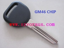 NEW NO LOGO GC REPLACEMENT TRANSPONDER CHIP IGNITION KEY CIRCLE PLUS WITH UNCUT BLADE