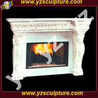 White marble fireplace mantle FPSN-C023