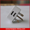 Universal Dual 2 USB Uk Travel Wall Charger for iphone 5 5s UK Plug adaptor