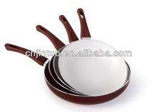 4 pcs aluminum forging frying pan with ceramic coating bakelite handle