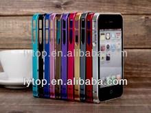 Ultra-thin 0.7 Aluminum Metal Bumper Case For iphone4 4s
