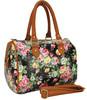 New Arrival Women Handbags Vintage Flower Printing Oilcloth Tote Bag Women's Shoulder Bags