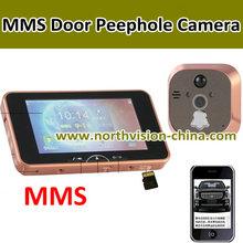 new design gsm video door camera with 5 inch lcd screen