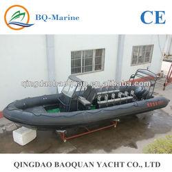 9m fiberglass open work boat, speed boat RIB 900