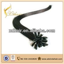 Wholesale 5A remy prebond u nail tip keratin shape pre tipped hair