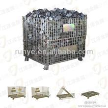 Heavy duty wire storage cage roll bins