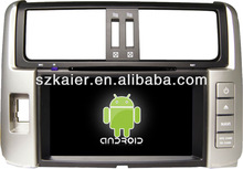 Direct factory !car dvd player with Android for Toyota prado 2012 +dual core +android 4.1+1G RAM+1G CPU