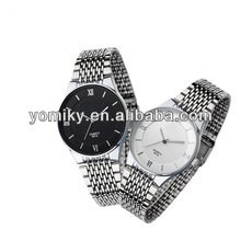 promotion alloy case steel strap watch no numbers